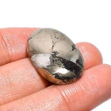 Natural Pyrite Oval Shape Cabochon Loose Gemstone 42.55 Ct. 26X18X5 mm JSM-4644