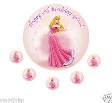 "Sleeping Beauty Princess  x1 Edible Birthday Cake Topper Icing Sheet 7.5"""