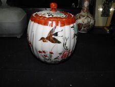 japanese kutani  tea caddy porcelain