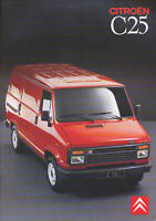Citroen Citroën C25 Prospekt 1989 brochure Autoprospekt prospectus broschyr Auto