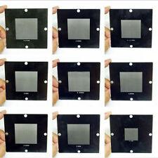 9PCS 90X90mm BGA Stencils Templates 0.5-0.76mm Universal Stencil Reballing Kit