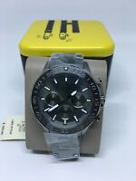 Fossil Mens BQ2491 Bannon Multifunction Smoke Stainless Steel Watch New