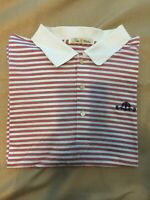 Peter Millar Polo Shirt Mens Size Xxl striped Orange golf performance comfort