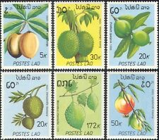 Laos 1989 Guava/Durian/Pomegranate/Fruit/Plants/Pods/Trees/Food 6v set (b8239)