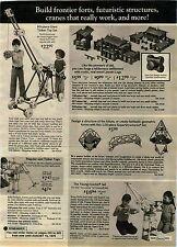 1974 ADVERTISEMENT Tinker Toy Giant Erector Brix-Blox Blocks Lincoln Logs