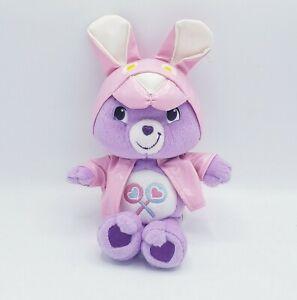 CARE BEAR Share Bear in Easter Bunny Rabbit Pink Rain Jacket ears Plush Spring