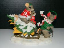 """Charming Tails """"Home Tree Home� Of Christmas Cheer Collection Figurine"""