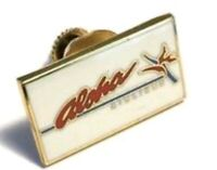 Aloha Airlines Orchid Logo Tie Tack Lapel Pin Collar Pin enamel pull twist clasp