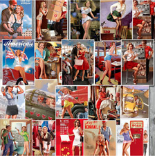 25 WWII Pin Up Girls Stickers Pack Lot Sexy Vintage Model Bomber Laptop Decal