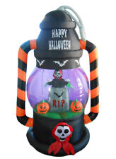 Halloween Inflatable Yard Party Air Blown Decoration Ghost RIP Tombstone Lantern
