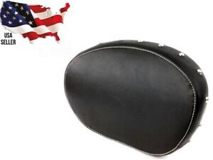 LEATHER PASSENGER BACKREST PAD BLACK INDIAN MOTORCYCLE 2879666-02 CHIEFTAIN NEW