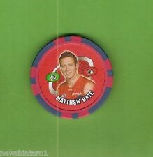 #D213. 2008 AFL CHIPZ TAZO, MATTHEW BATE, MELBOURNE DEMONS