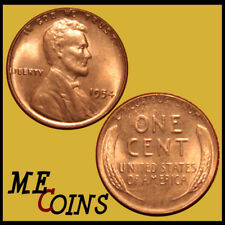 1954 Lincoln Wheat Cent Penny , GEM BU Red , US Coin , Free Shipping!