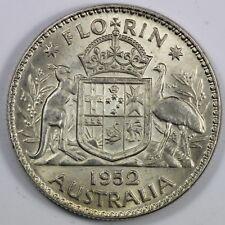 Australia 1952 Florin, Choice Uncirculated & a Key Date