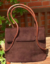 BALLY Ladies Large Brown Suede and leather handbag