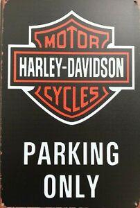Harley-Davidson Parking Only new tin metal sign MAN CAVE