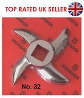 Meat Mincer Blade Grinder Spare Knife Curved Size No 32 Stainless Steel Salvador