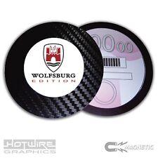 Magnetic Tax Disc Holder - Wolfsburg Edition - VW AUDI VAG - Carbon Fibre Edge