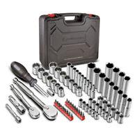 Powerbuilt 80 Pc.1/4 in. & 3/8 in. Dr. SAE & Metric Mechanics Tool Set - 642452