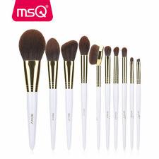 MSQ 10pcs Tapered Makeup Brush Set Kabuki Angle Eye Blusher Synthetic Hair Brush