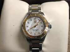 TAG Heuer Aquaracer Ladies 300M Watch WAY1451, Two-Tone 18k & Stainless Steel