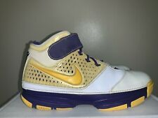 Vintage 2006 Nike Zoom Kobe II 2 LAKERS HOME Sz.  9.5 Black Mamba Mentality