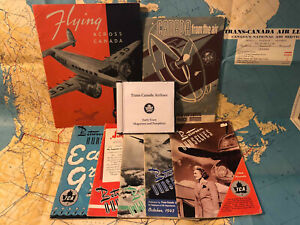 Trans Canada Airlines early years pamphlets and magazines TCA DVD