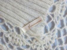 NWOT Shawl Scarf Stole Winter White Crochet Knit Lacy Acrylic Soft Wool 19 x 75