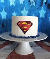 Superman Edible Image Decorations Icing Superhero Cake Cookie Cupcake Vegan GF
