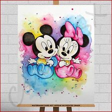 Disney Mickey & Minnie Mouse Framed box Canvas Print Girls Boys Kids Bedroom Art