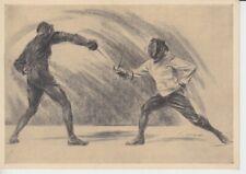 Olympia 1936  - Hilfsfond für den dt. Sport  Werbepostkarte 19 - Fechten
