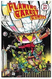 Flaming Carrot #27 (10/91) Dark Horse Comics McFarlane Mutant Ninja Turtles TMNT