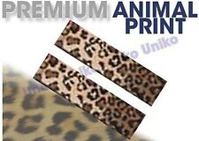 Leopard Shoulder Pads Seat Belt Covers Pair Tan Brown 2pc Matches Set
