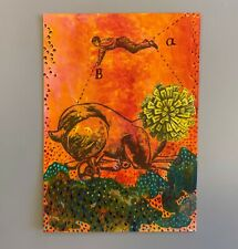 More details for mm059 a-b collage mystery masterpieces art postcard figure animal 15cm x10.5cm