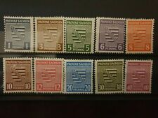 Germany - 1945 Soviet Zone Saxony stamps - MLH