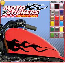 Adesivi Moto Custom - n° 2 FIAMME ADESIVE per serbatoio - cod. sc129