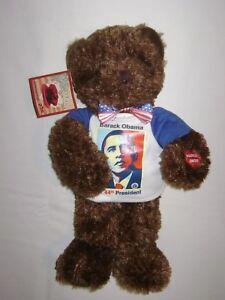 "Chantilly Lane BEARACK OBAMA 14"" Commemorative Singing Bear"