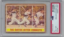 1962 TOPPS MICKEY MANTLE- SWITCH HITTER CARD -PSA GRADED VG-EX 4