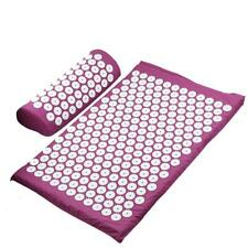 Spoonk Sleep Back Pain Large Accupressure Mat + Pillow Set w/Case