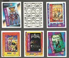 1995 Post Cereal Canada Sega Genesis Game Stickers, Set of 6