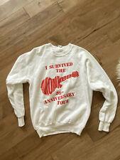 Vtg Rock 1986 The Monkees Anniversary Tour Concert Crewneck Sweater Sz L Usa
