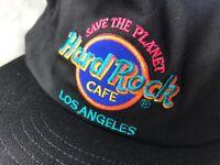 Vintage Hard Rock Cafe Los Angeles Save The Planet Strapback Hat Cap 90s Retro