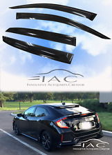 For Honda CIVIC Hatchback 2017- Window Visor Vent Sun Shade Rain Guard Visor
