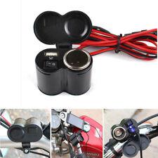 Motorcycle Motorbike USB Charger Power Cigarette Lighter Socket Adapter 12V 24V