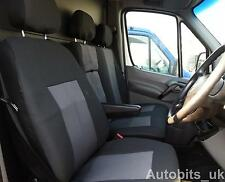 PREMIUM FABRIC GREY-BLACK  SEAT COVERS TAILORED FOR MERCEDES SPRINTER W906 06+