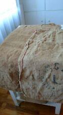 2 piece Antique Vtg GRAIN SACK feedsack Rustic hemp black writing GRAINSACK/4/