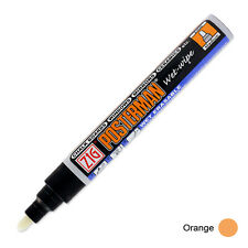 Zig Posterman Wet Wipe Marker - Medium - Orange (Pack of 12)