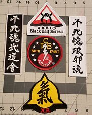 New Assorted Martial Arts Black Belt Bureau Asian Patches