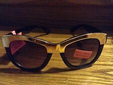 Betsey Johnson Black and gold women's sunglasses New