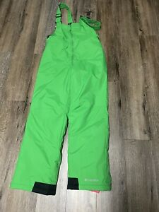 Columbia Youth Kids Bib Green Overalls Snow Pants Size Large